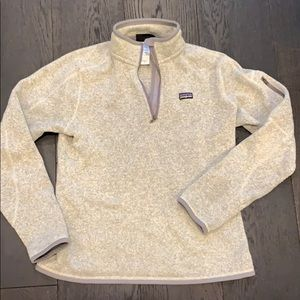 Women's Patagonia pullover, light grey, size M